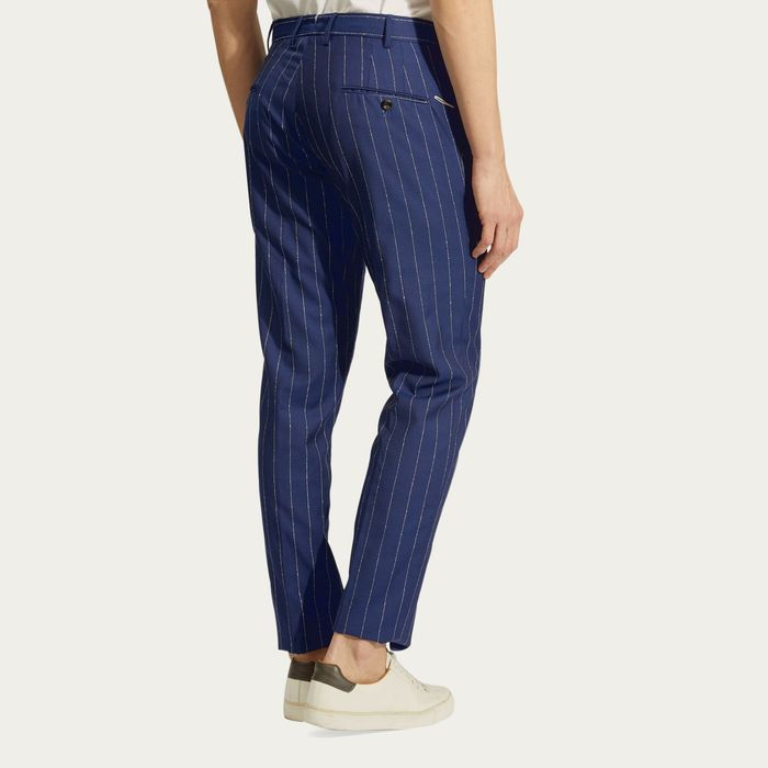 Blue Super 110's Wool Raval Trousers   Bombinate
