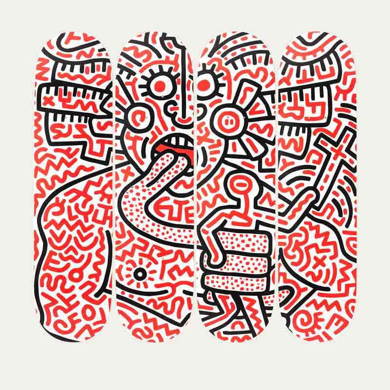 Man and Medusa Keith Haring | Bombinate