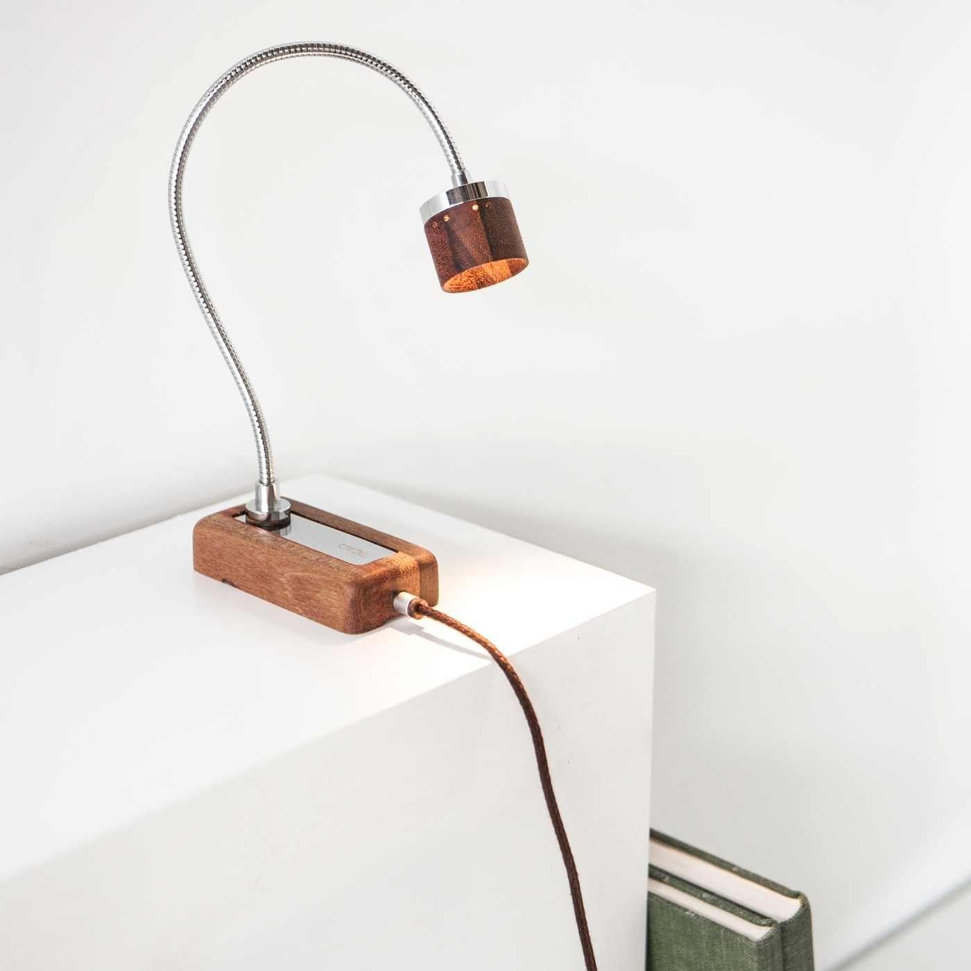 Walnut Whims LED Wall Reading Lamp | Bombinate