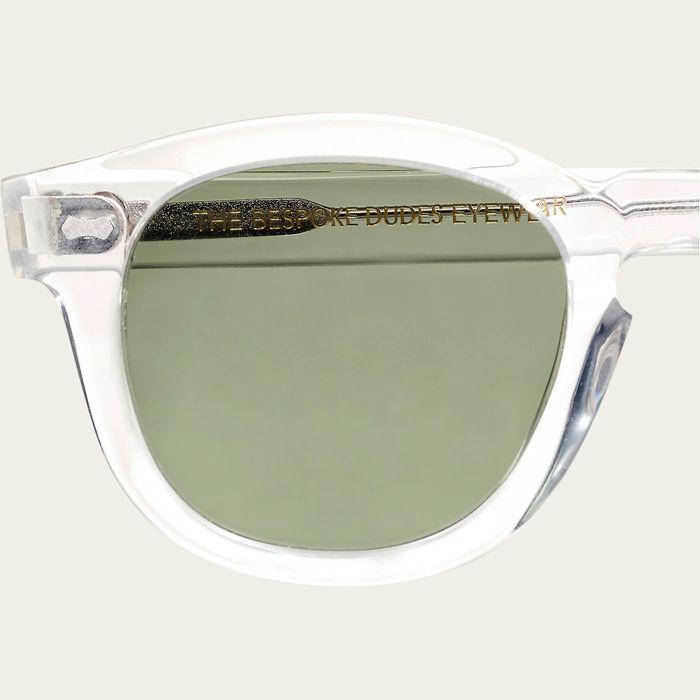 Transparent // Bottle Green Donegal Sunglasses | Bombinate