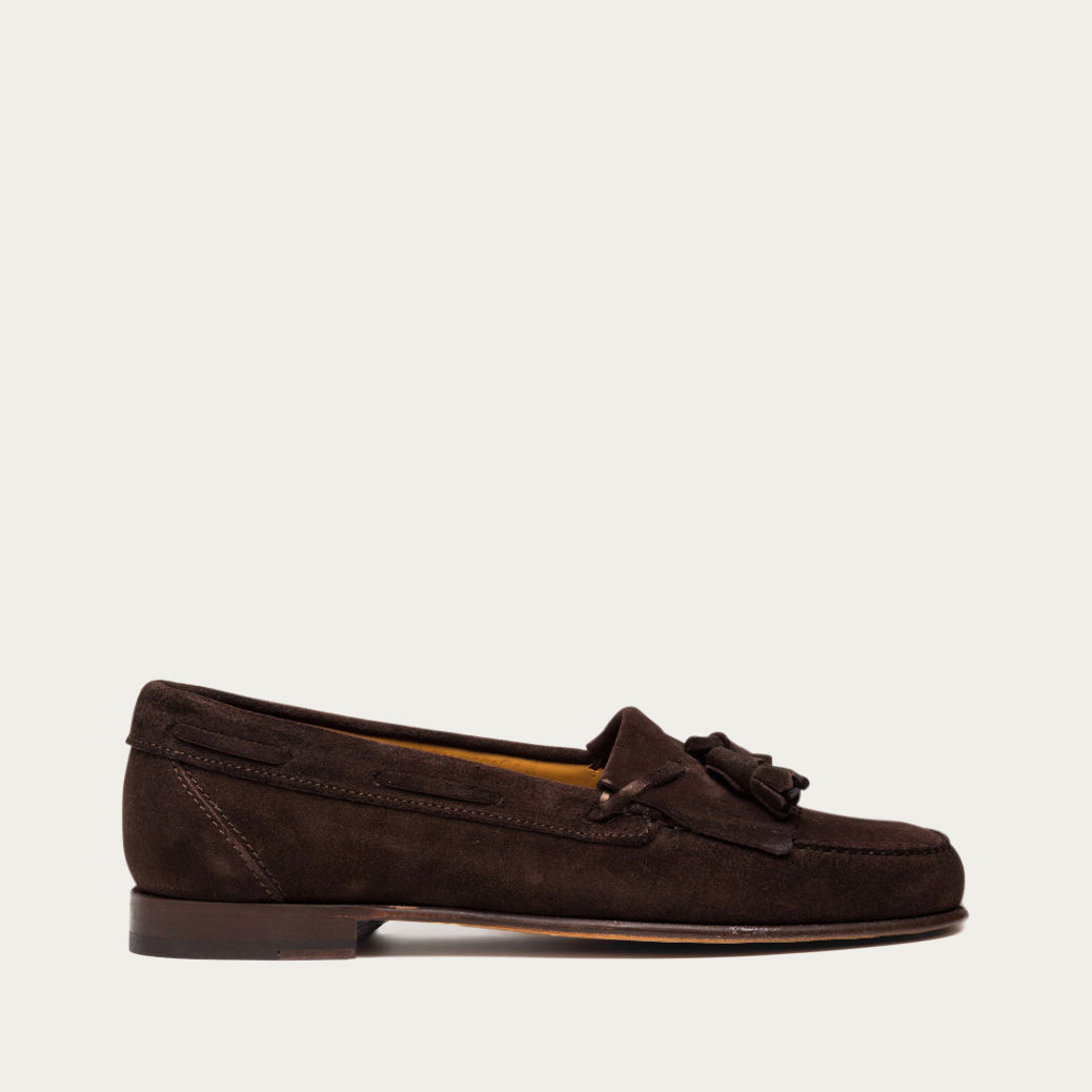 658e9e9e9 Brown Suede Bari Moccasin