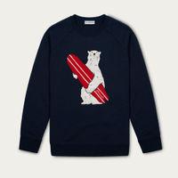Dark Navy Diego Embroidered Cotton Sweatshirt   Bombinate