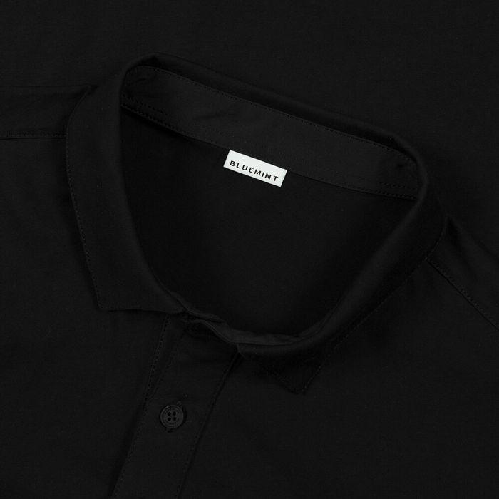 Black Matteo Long Sleeve Polo Shirt | Bombinate