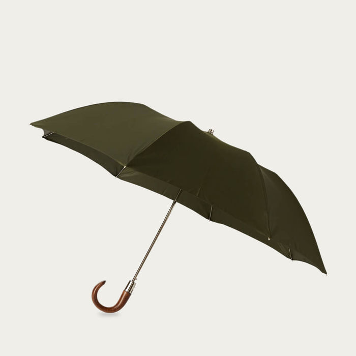 Hunter Green Telescopic Umbrella Smooth Maple | Bombinate