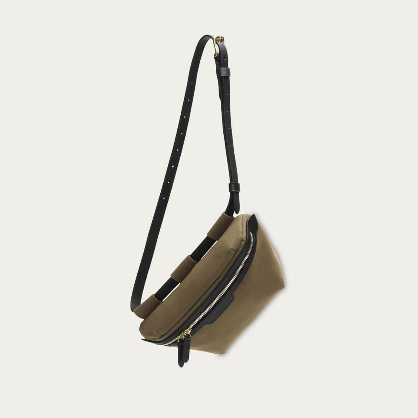 Khaki-Black M/S Belt Bag   Bombinate