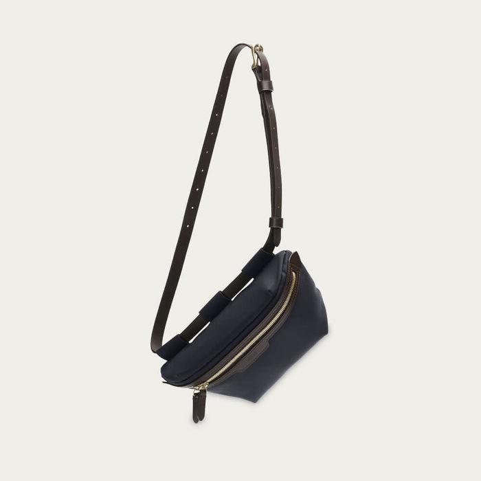 Navy-Dark Brown M/S Belt Bag | Bombinate