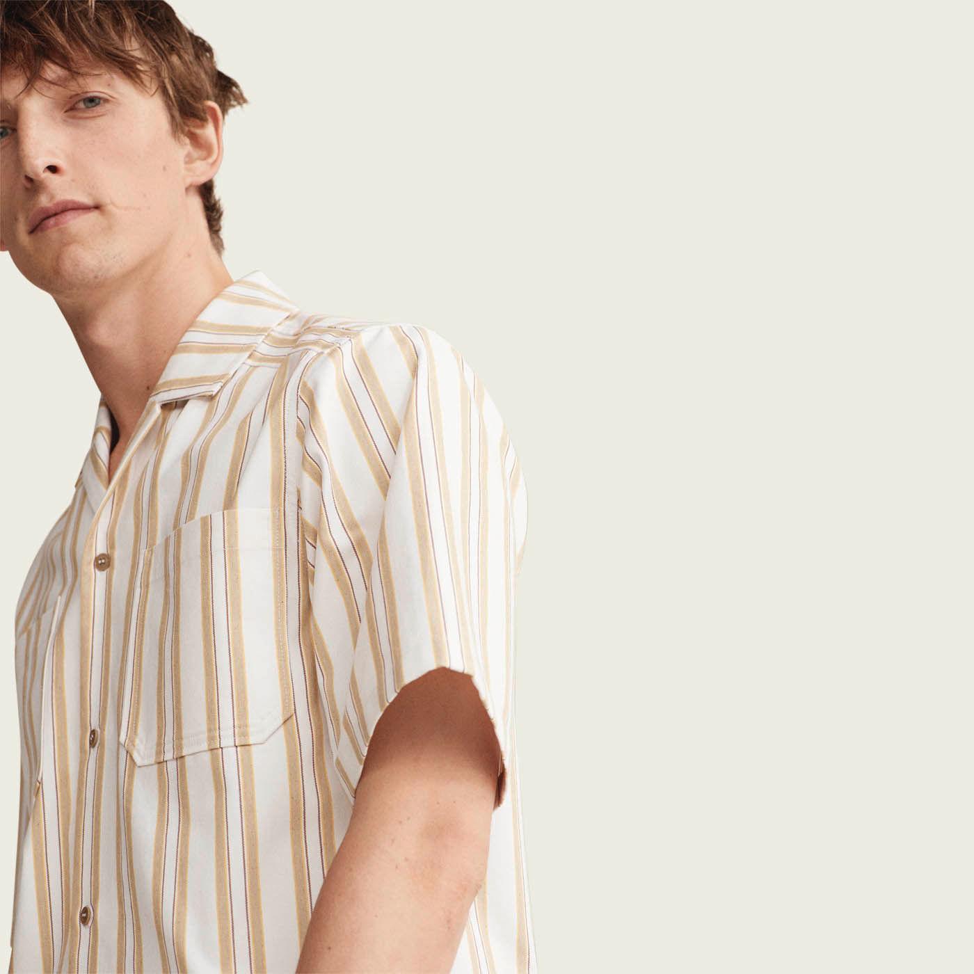 Stripe Double Pocket Bowling Shirt  | Bombinate