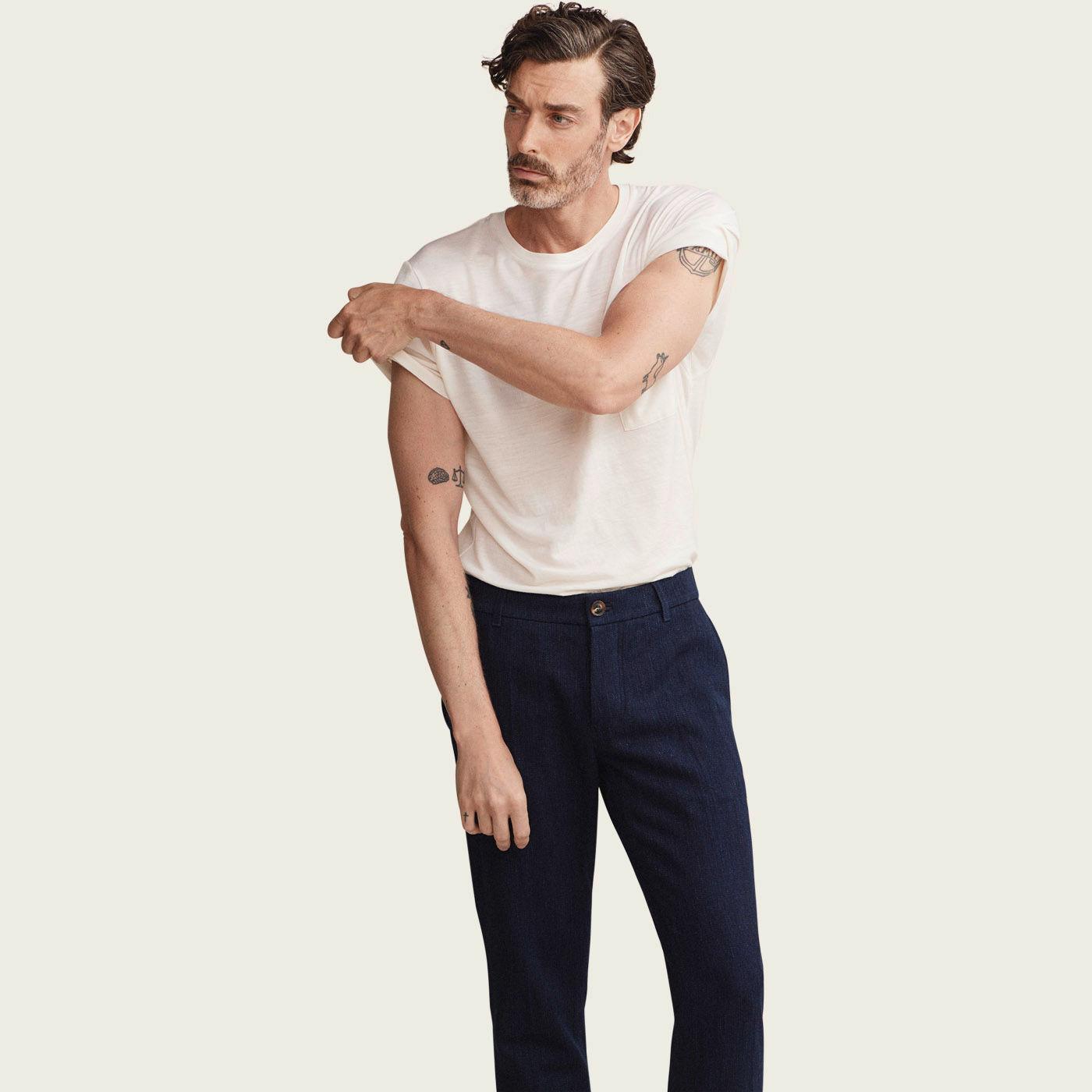 Vanilla Pocket Merino T Shirt  | Bombinate
