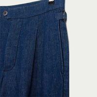 Indigo Rinse Pleat Trouser  | Bombinate