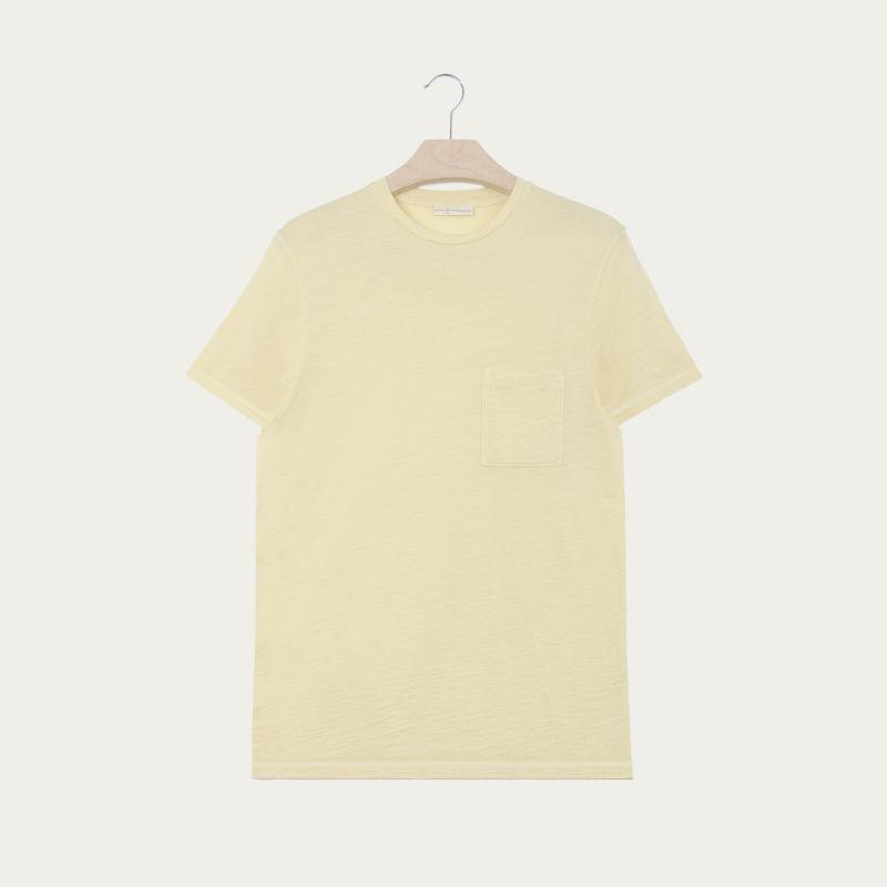 Citron Pocket Merino T Shirt  | Bombinate