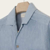 Denim Double Pocket Bowling Shirt  | Bombinate