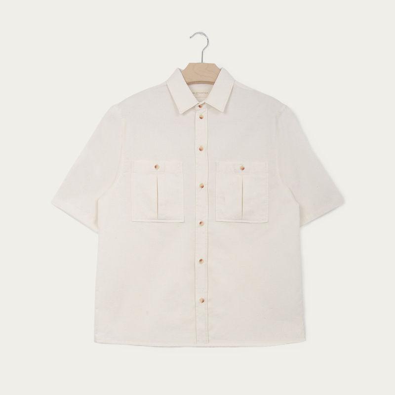 Ecru Double Pocket Shirt  | Bombinate