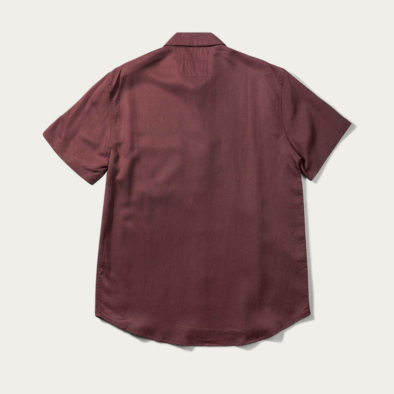 Burnt Red Japanese Linen Tencel Shirt  | Bombinate