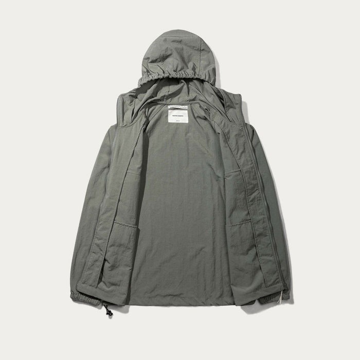Olive Hooded Windbreaker Jacket  | Bombinate