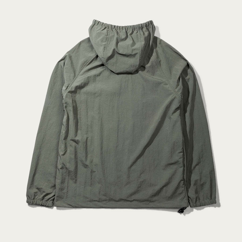 Olive Hooded Windbraker Jacket  | Bombinate