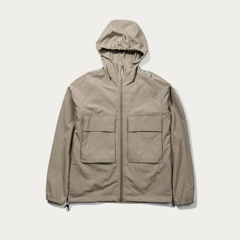 Brown Hooded Windbraker Jacket  | Bombinate