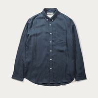 Blue Japanese Linen Tencel Shirt  | Bombinate