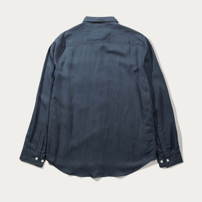Blue Japanese Linen Tencel Shirt  | Bombinate