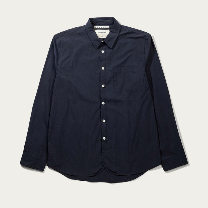 Navy Paper Shirt  | Bombinate