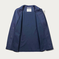 Indigo Herringbone Utility Jacket  | Bombinate