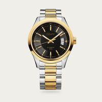 Steel & Gold with Black Dial Osvay 500 Watch | Bombinate