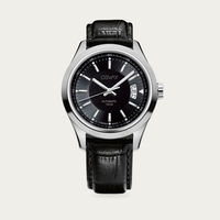 Black Dial with Black Leather Osvay 500 Watch | Bombinate