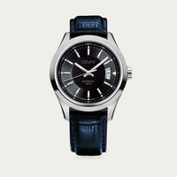 Black Dial with Blue Leather Osvay 500 Watch | Bombinate