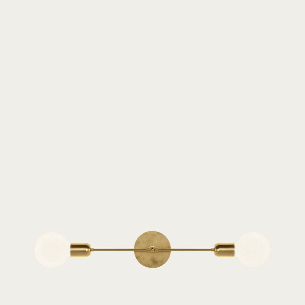 Golden Brass Janus Light | Bombinate