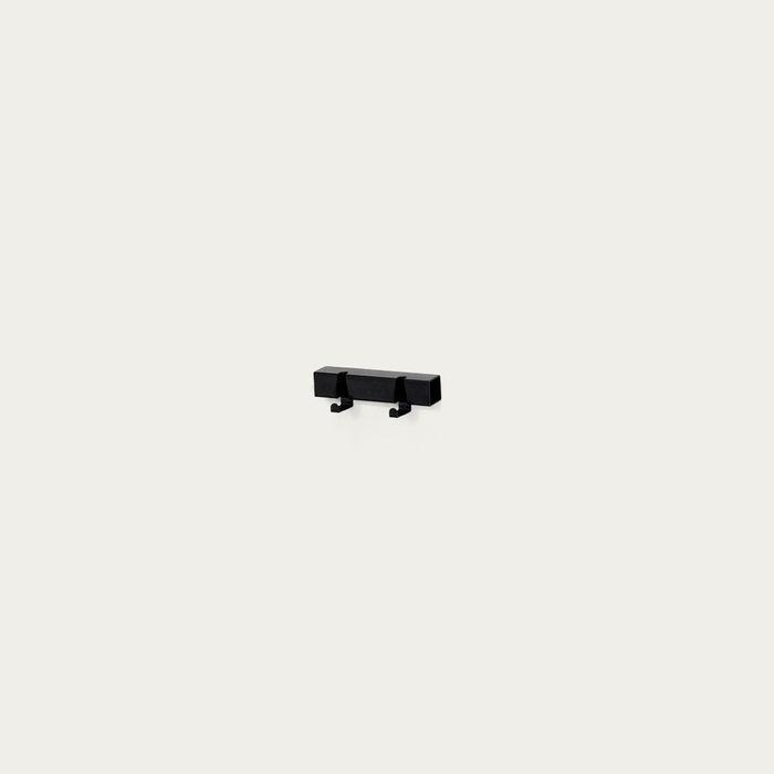 Black 2 Hooks Coatrack | Bombinate