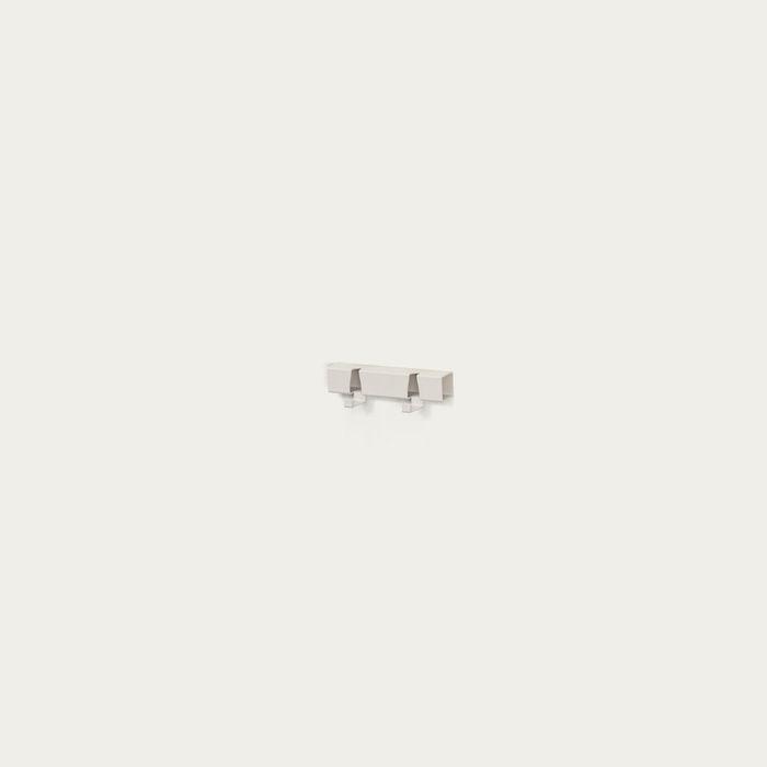 White 2 Hooks Coatrack | Bombinate