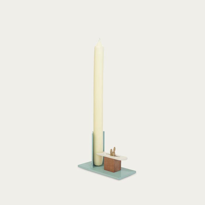 Blue-White Fixum Candle Holder | Bombinate