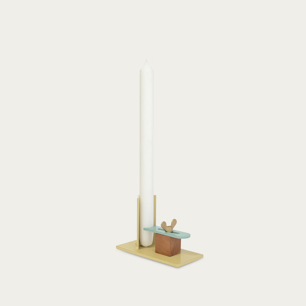 Yellow-Blue Fixum Candle Holder | Bombinate
