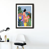 I Miss the Beach Art Print Black Frame | Bombinate