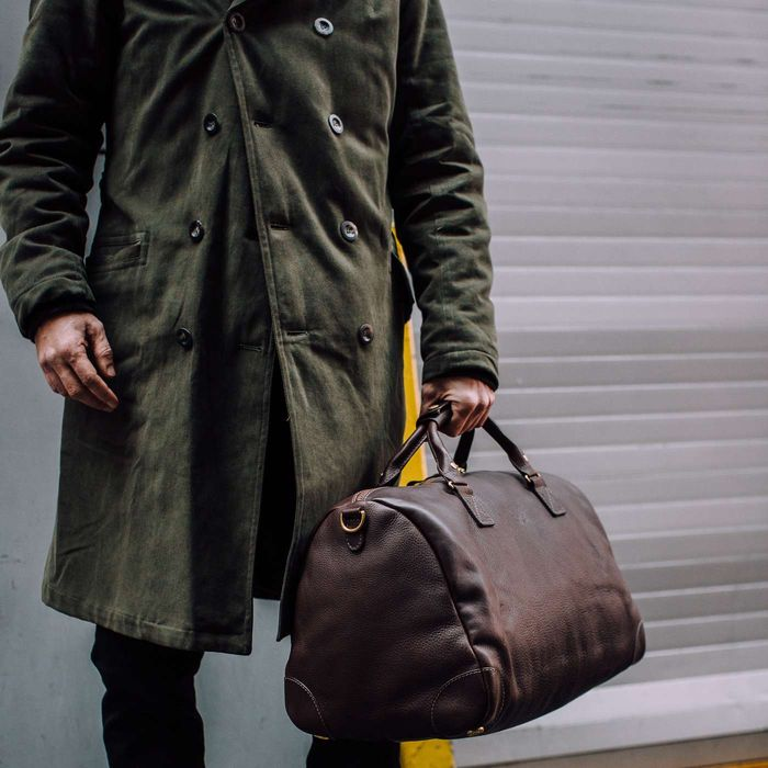 Brown Full Grain Leather Weekender | Bombinate
