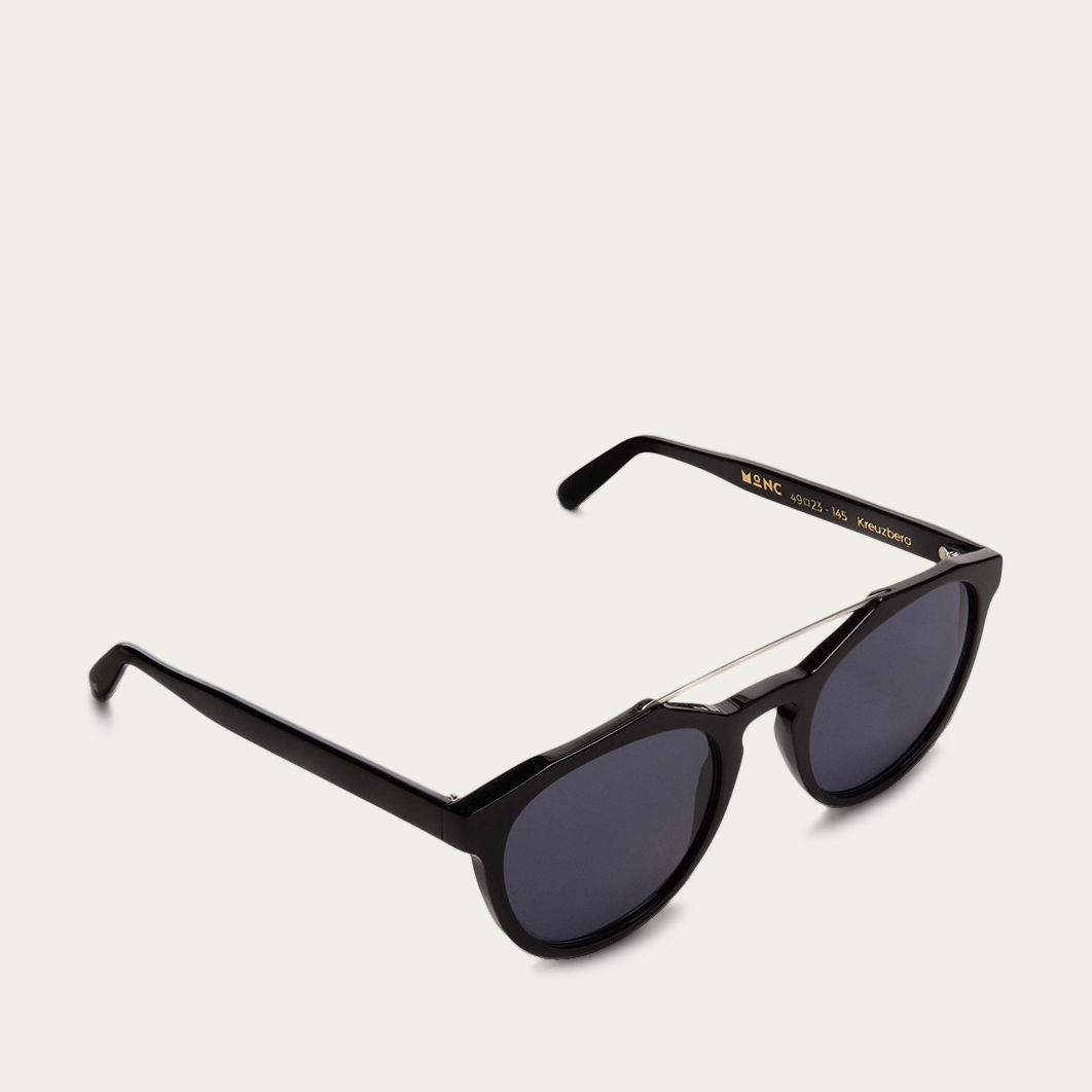 Navy Kreuzberg with Black Lenses  Sunglasses | Bombinate