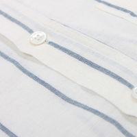 White Stripe Linen Mod Button Down S/S Shirt  | Bombinate