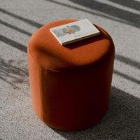 Terracotta Wool Tall Folk Pouf | Bombinate