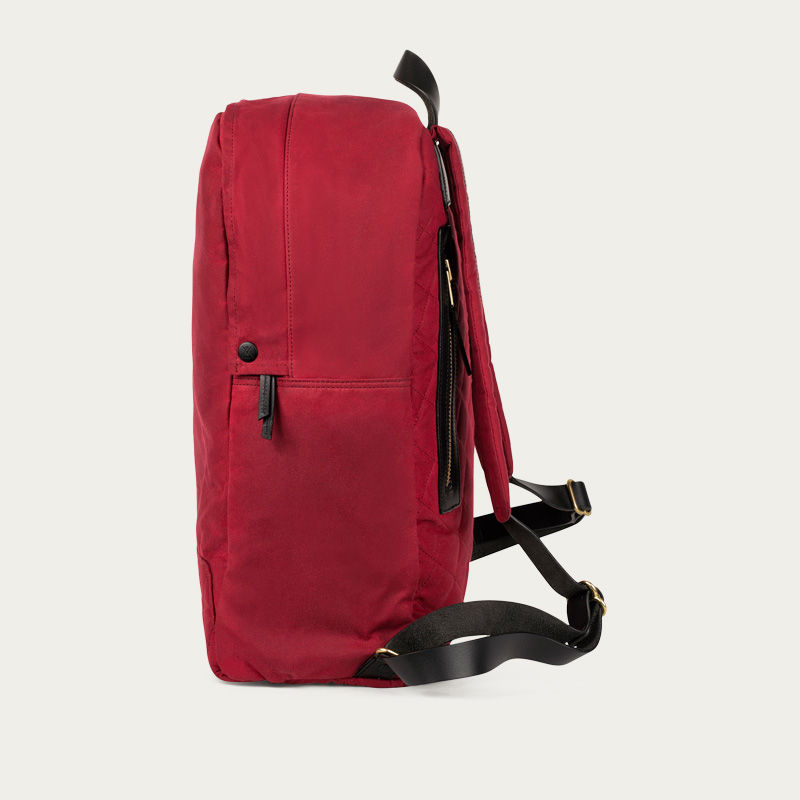 Red Edward Waxed Canvas Backpack  | Bombinate