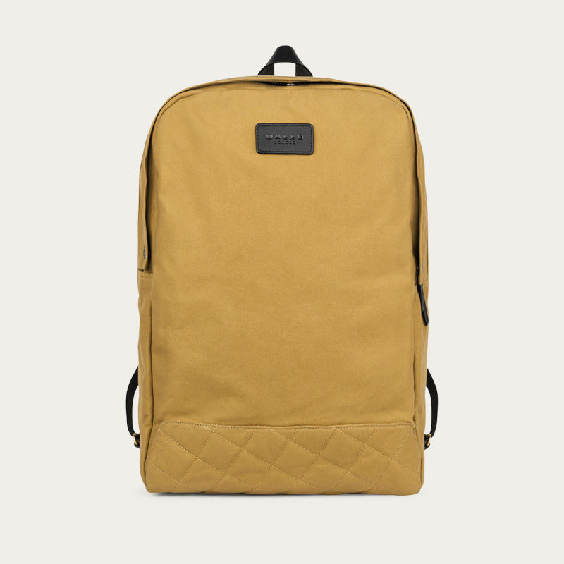 6cc8924be Malle | Sand Edward Waxed Canvas Backpack | Bombinate