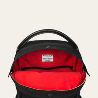 Black Bonnie Waxed Canvas Backpack | Bombinate