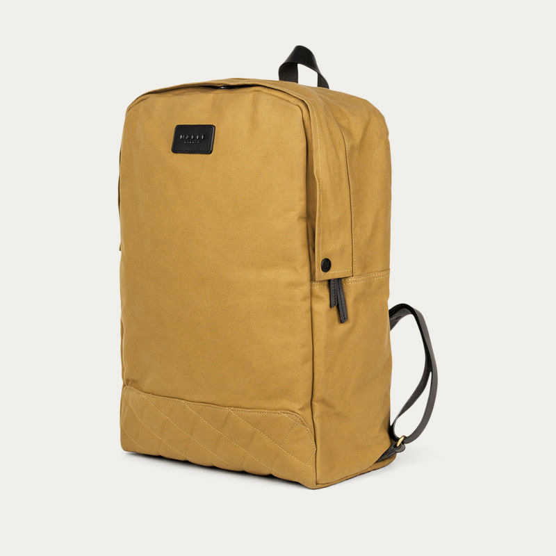 Sand Edward Waxed Canvas Backpack  | Bombinate