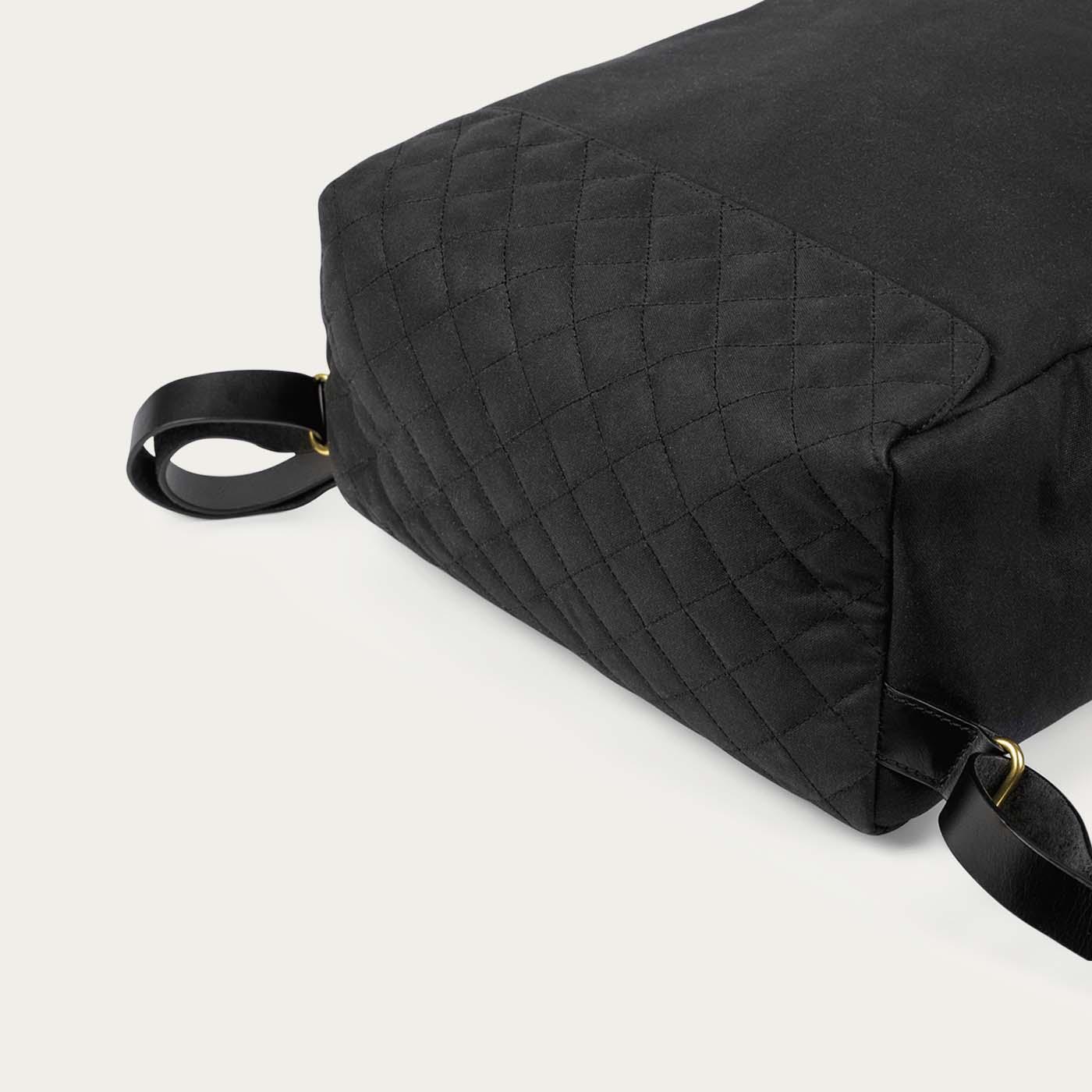 Black Edward Waxed Canvas Backpack  | Bombinate