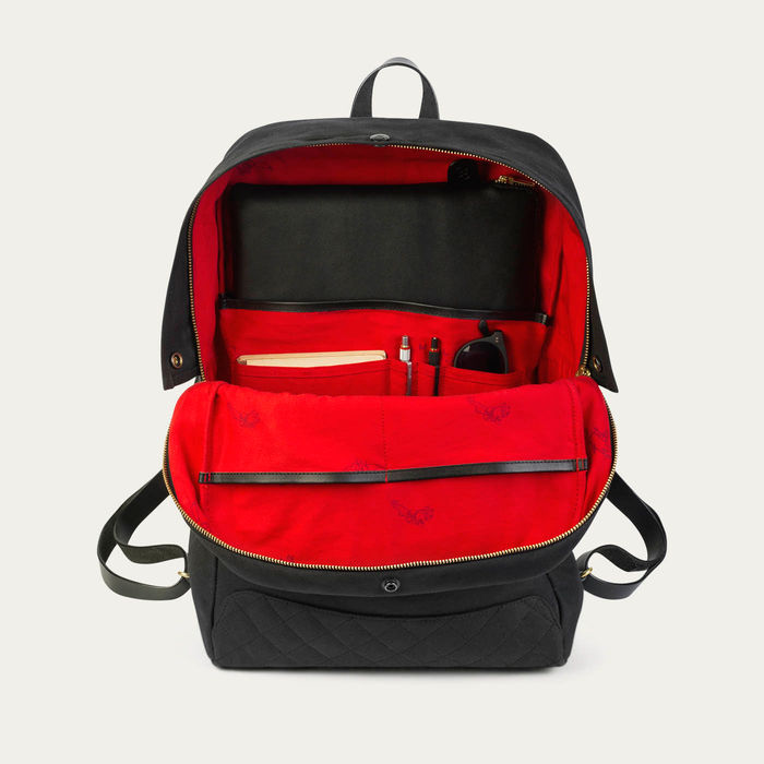 Black Edward Waxed Canvas Backpack  | Bombinate