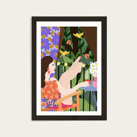 Waiting for The Summer to Come Art Print Black Frame | Bombinate
