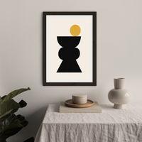 Totem 04 Art Print Black Frame | Bombinate