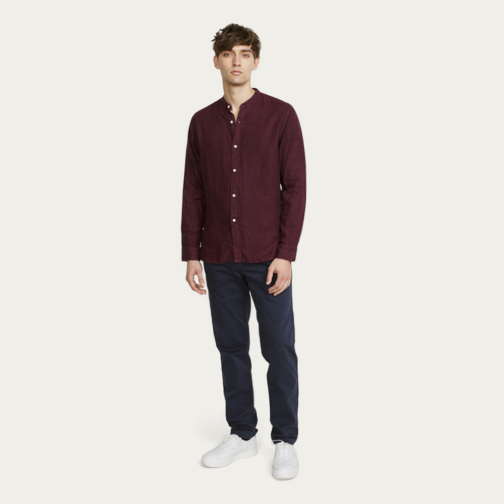 Aubergine Watchet Long Sleeve Shirt  | Bombinate