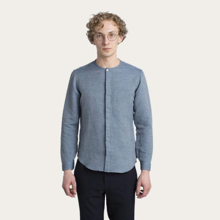 Harmony Shirt in Blue Italian Blend | Bombinate