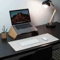 Grey Felt & Cork Desk Mat | Bombinate
