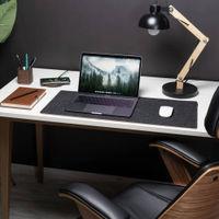Anthracite Felt & Cork Desk Mat | Bombinate