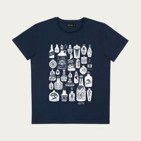 Navy Drunk Again T-Shirt | Bombinate